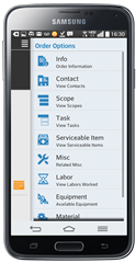 Service Pro® Mobile app for field service, Android version.