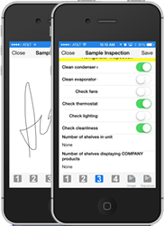 Service Pro Mobile with signature and checklist in iPhone