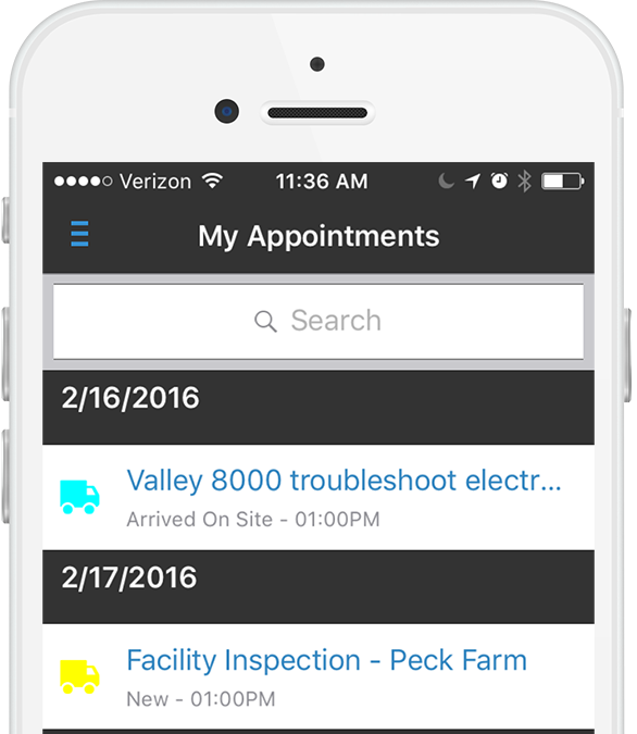 mobile scheduler appointments
