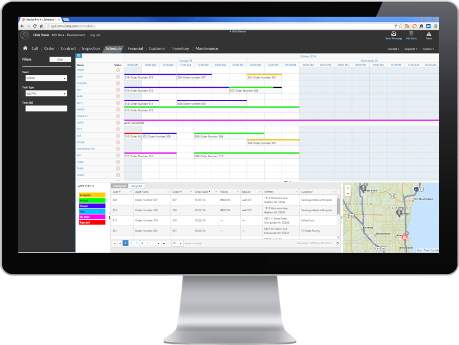 Service Pro for NetSuite field service scheduling software