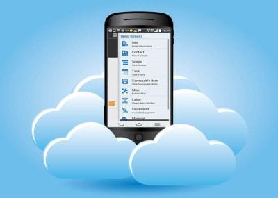 cloud-based service management app