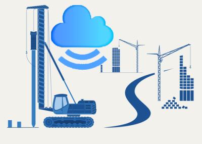 construction equipment illustration cloud feature