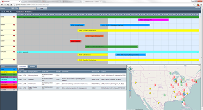 MSI field service scheduling screenshot for field technicians