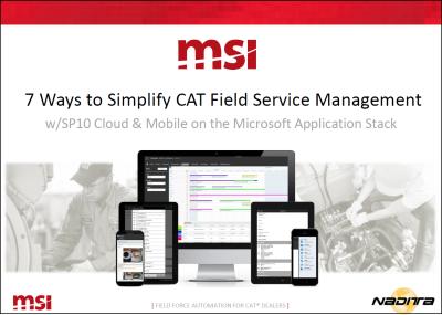 caterpillar service contract management