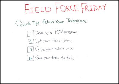Technician Retention Quick Tips