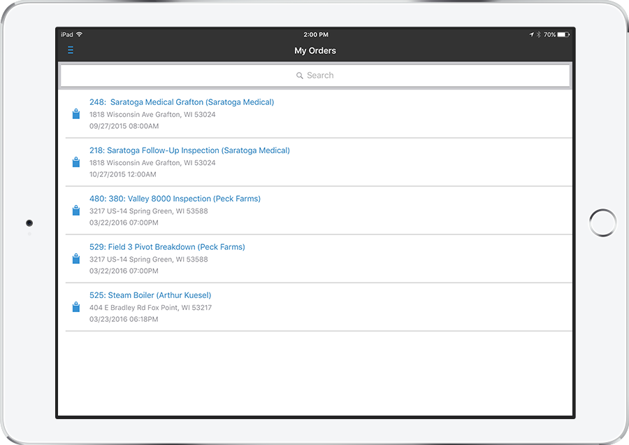 service pro mobile service management software