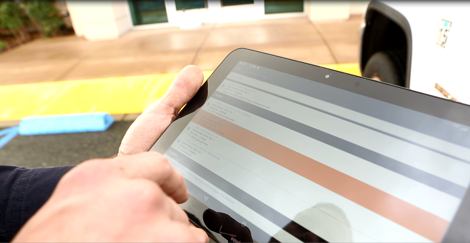 Service Pro field service management software - iPad tablet
