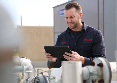Matrix HVAC technicians use Service Pro to complete work orders with ease