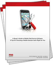 buyer's guide to mobile field service software