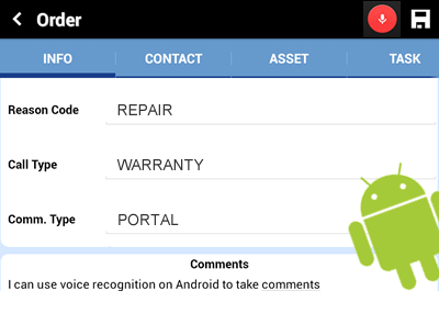 field service android voice recognition